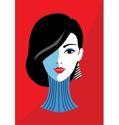 Stylish beautiful model for fashion design vector