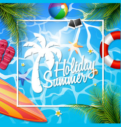 summer beautiful holiday vector image