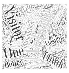 The key to better websites a navigation word cloud vector