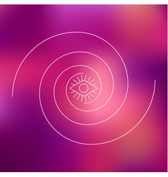 Two swirls and geometric eye line graphic vector