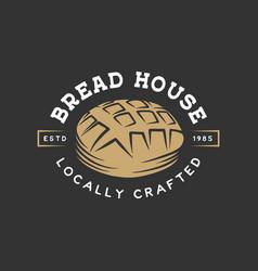 Vintage style bakery shop label badge emblem logo vector