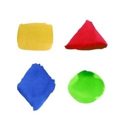 Watercolor shape set vector image