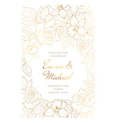 Wedding marriage event invitation card template vector