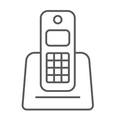 wireless telephone thin line icon appliance vector image