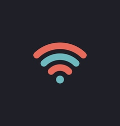 wireless zone computer symbol vector image