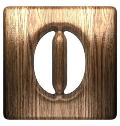 Wooden figure 0 vector