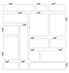 Cut out Paper Banner Set vector image
