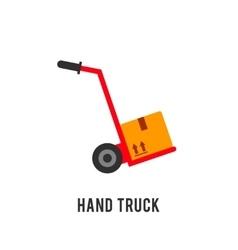 Hand truck vector image