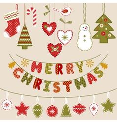 Handmade Christmas decoration vector image vector image