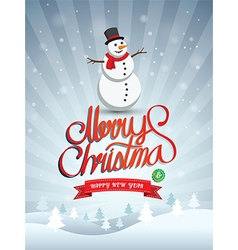 Merry christmas 2 vector image
