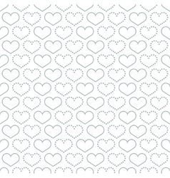 Simple seamless pattern with heart symbol vector image