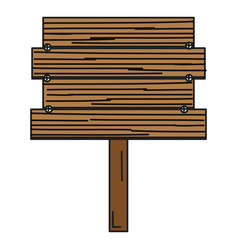 wooden banner isolated icon vector image vector image