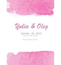 Abstract Watercolor Invitation Template vector image
