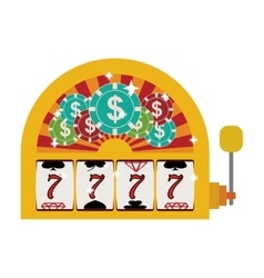 jackpot machine icon vector image vector image