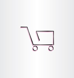 shopping cart icon design vector image