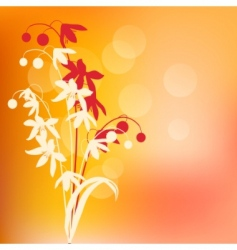 warm background with spring flowers vector image vector image