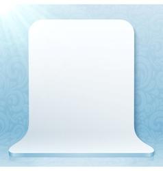 White realistic plastic studio backdrop vector image
