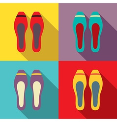 Women Flat Shoes vector image vector image