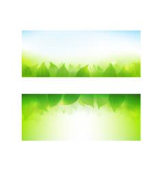 set of banner gradient green background element vector image vector image