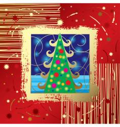 Christmas & New Year's card vector image