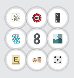 flat icon games set of bones game multiplayer vector image vector image