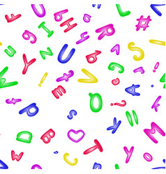 funny letter alphabet seamless pattern textiles vector image