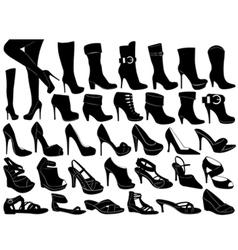 shoes set vector image