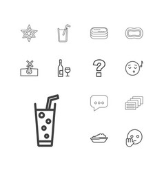 13 bubble icons vector