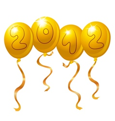 2012 new year balloons vector image