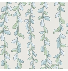 abstract seamless pattern with succulentes vector image