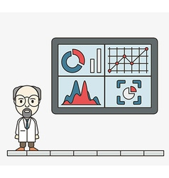Analysis information on dashboard vector