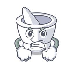 Angry mortar mascot cartoon style vector