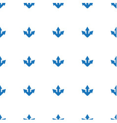 arrow icon pattern seamless white background vector image