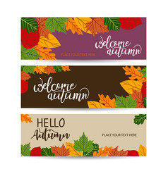 autumn sale banner with leaves can be used vector image