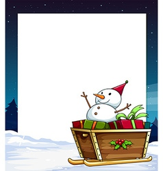 banner and snowman vector image