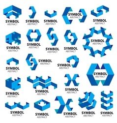 Biggest collection logos geometric modules vector