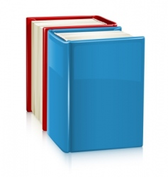 Books with hard cover vector
