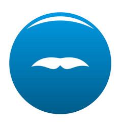 Broad mustache icon blue vector