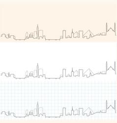 Cairo hand drawn skyline vector