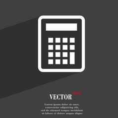 Calculator icon symbol Flat modern web design with vector image