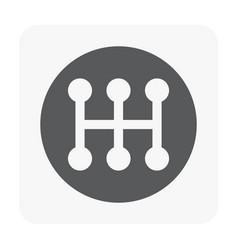 Car transmission icon vector