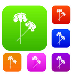 carnation set collection vector image