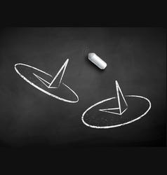 chalk drawn push pins vector image