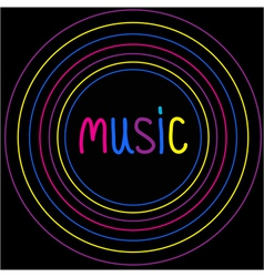 Colorful circles Music card vector image