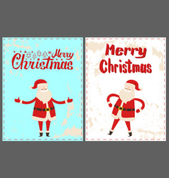 Dancing santa claus with hands on waist christmas vector