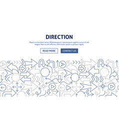 direction banner design vector image