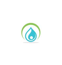 eco water drop logo vector image