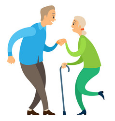 elderly dancers pensioners moving dance vector image
