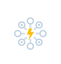 Electric power distribution icon vector