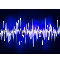 Electronic sine sound or audio waves EPS 8 vector image